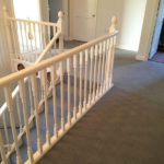 carpet at the top of stairs