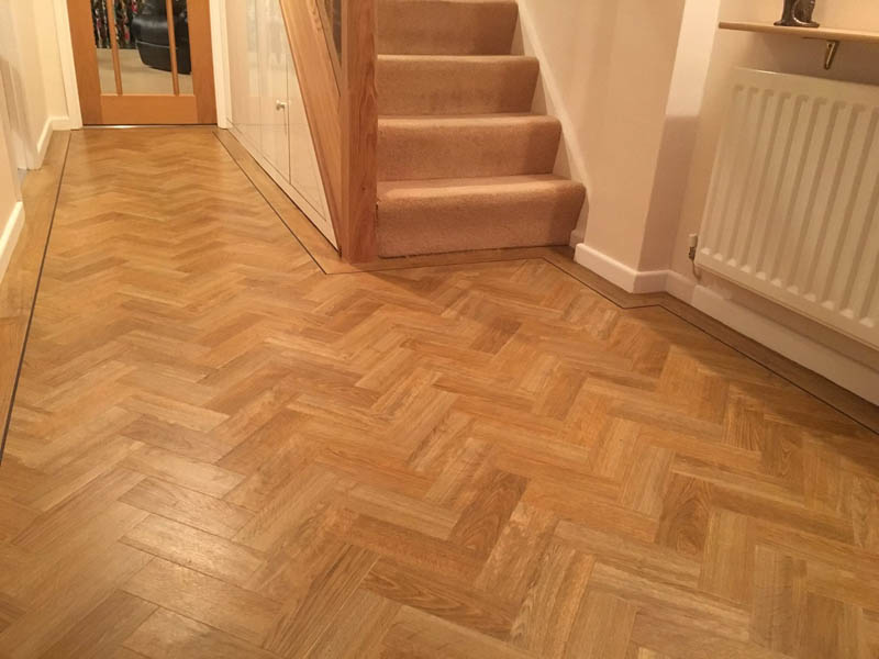 wooden floor in hallway